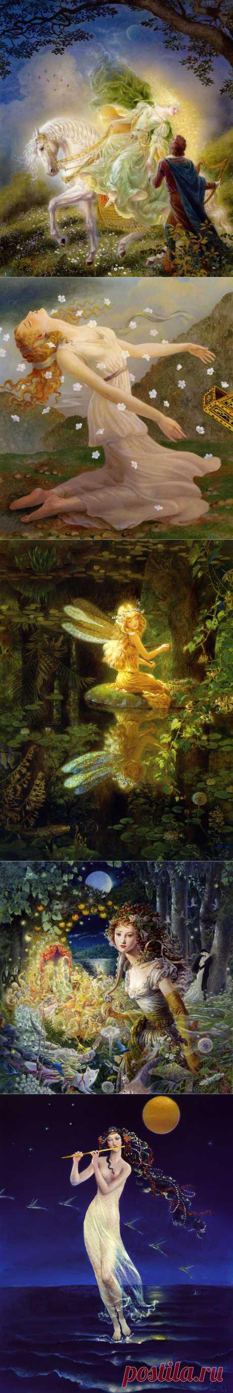 Удивительные иллюстрации Kinuko Craft.Волшебная сказка...