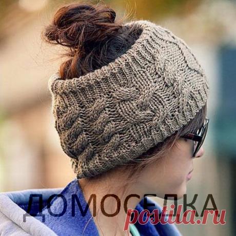 Связать модную шапку спицами | ДОМОСЕДКА