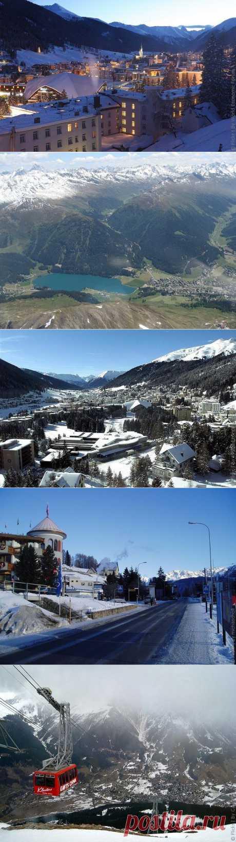 Давос - горнолыжный курорт в Швейцарии, фото курорта