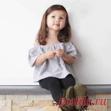 Блузка для девочки с открытыми плечами на возраст от 1 года до 14 лет. Выкройки (Шитье и крой) — Журнал Вдохновение Рукодельницы