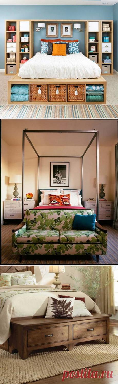 Как оформить изножье кровати — Мой дом