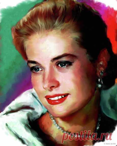 Grace Kelly painting by Stars on Art Grace Kelly painting Painting by Stars on Art