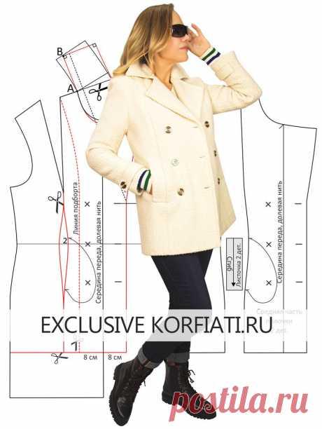 Выкройка пальто-бушлат от Анастасии Корфиати