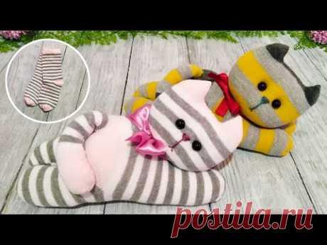 Самые милые котята из носочков - Легко и быстро