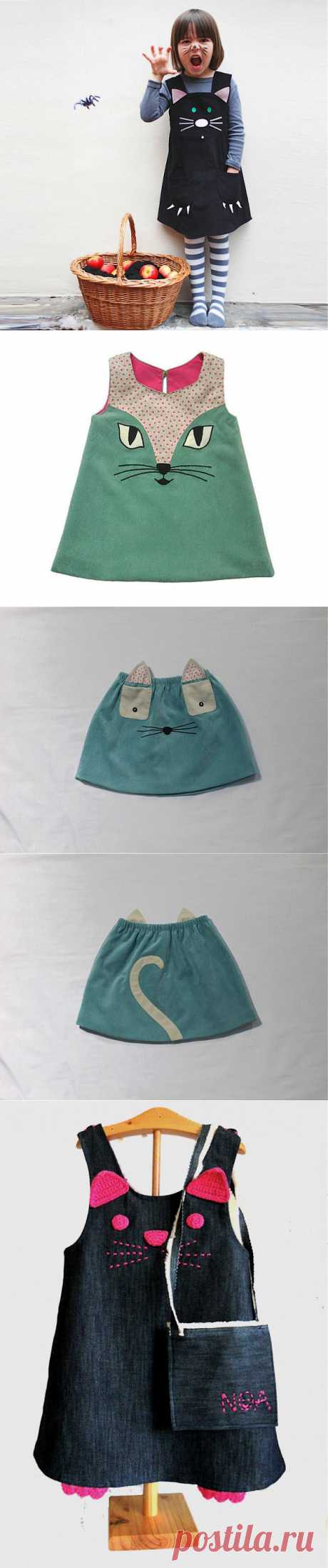 Cat's subject in children's fashion \/ For children \/