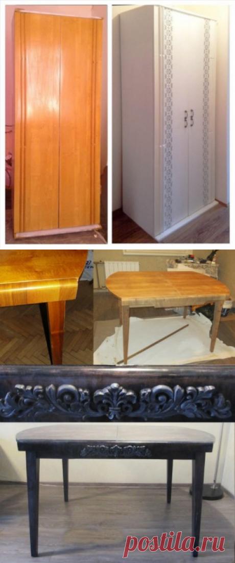 Интересные переделки старой мебели: до и после — Полезные советы