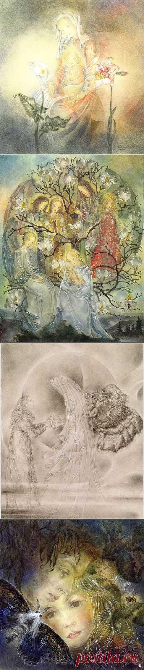 """""""Мои рисунки - это визуальное отображение моих глубочайших чувств - удовольствия, страха, печали, счастья, юмора."""" - Sulamith Wülfing (1901-1989) ."""