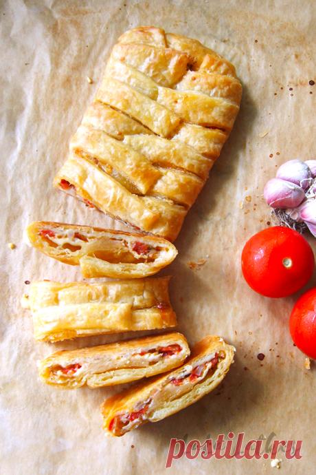 Штрудель с помидорами и сыром | LaLa Latkes - Кулинарный блог Насти Матвеевой