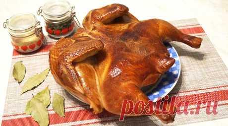 Курица горячего копчения, пошаговый рецепт с фото