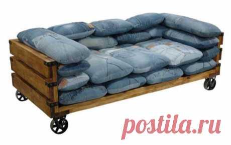 Джинсовые подушки (подборка) / Подушки / ВТОРАЯ УЛИЦА - Выкройки, мода и современное рукоделие и DIY Джинсовые подушки Подушки Джинсовые, кожаные, деревянные, вязаные подушки в стиле пэчворк.