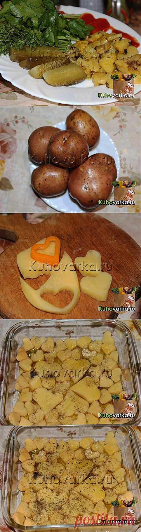 Запечённая картошка «Сердечки» » Домашняя кулинария. Семейная энциклопедия блюд и рецептов