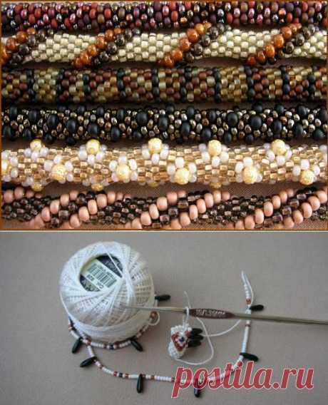 Knitted a hook plaits from beads. MK. \/ businka-lisa.livejournal.com