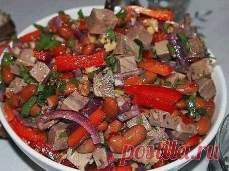 Белковый ужин: салат с говядиной и фасолью - Счастливые заметки