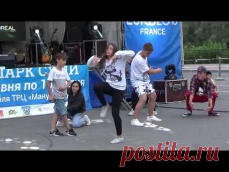 Dance jam & freestyle - HAVIN' FUNK dance school & D-Star. Фан-парк Сумы EURO-2016 - YouTube