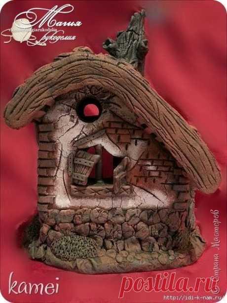 Сказочный домик из соленого теста