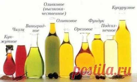 Растительные масла — информация о каждом