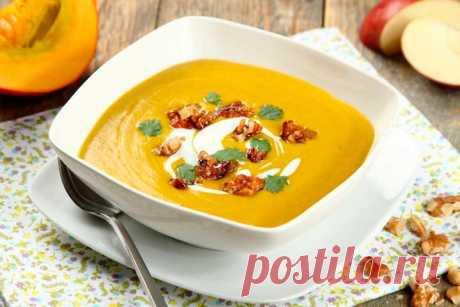 Суп пюре из тыквы - пошаговый рецепт с фото.