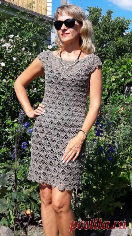 Платье крючком (узор)
