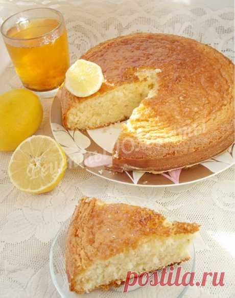 Лимонный бисквит с цедрой и пропиткой