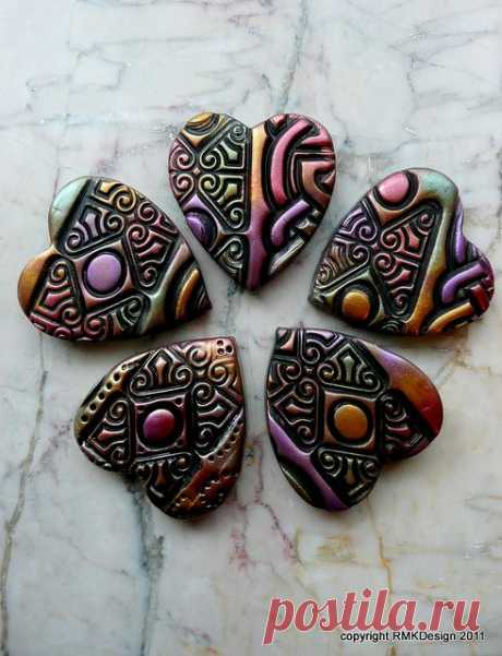 (11) Bronze Age Hearts | Flickr - Photo Sharing! | Fimo