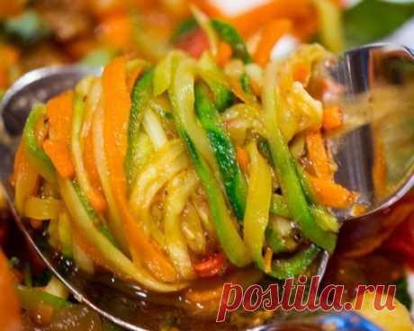 Салат из кабачков - по корейски на зиму