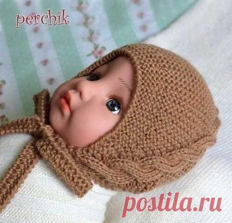 Тёплая шапочка для новорождённого
