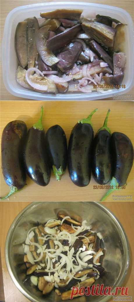 The pickled most tasty eggplants.