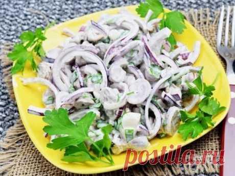 Салат из куриных сердечек - пошаговый рецепт с фото на Повар.ру