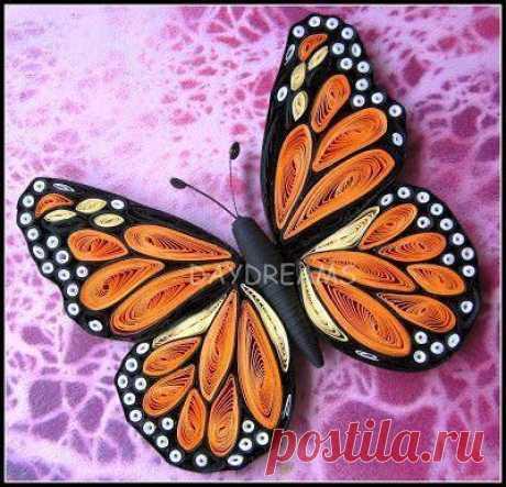 Бабочки в технике квиллинг