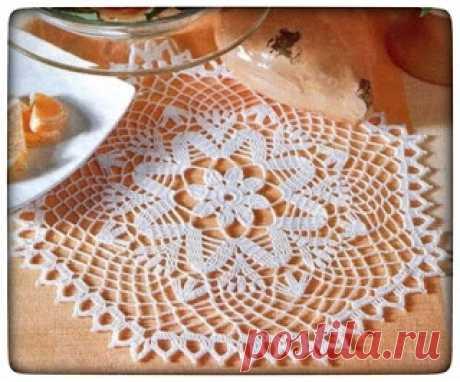 Crochet Heklanje: Šema 8 - Manja bijela salveta