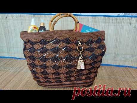 Пляжная сумка крючком или... #неавоська #мастеркласс