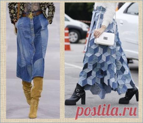 40 вдохновляющих моделей юбок из старых джинсов в стиле пэчворк | МНЕ ИНТЕРЕСНО | Яндекс Дзен