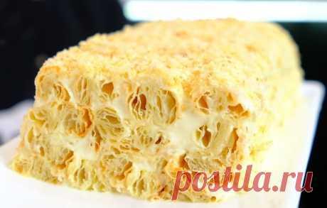 Вкуснейший торт всего из 3 ингредиентов – лучше Наполеона. Этот десерт – сама нежность! Очень простой и очень вкусный!