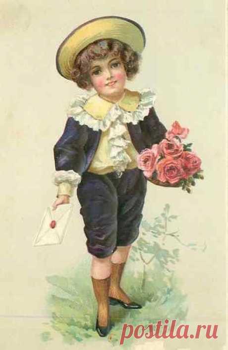 Картинки, с днем рождения мальчику старинные открытки