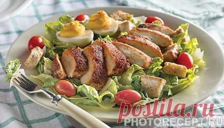 Салат «Цезарь» из индейки с сухариками - рецепт с фото пошагово Салат «Цезарь» из индейки с сухариками - пошаговый кулинарный рецепт приготовления с фото, шаг за шагом.