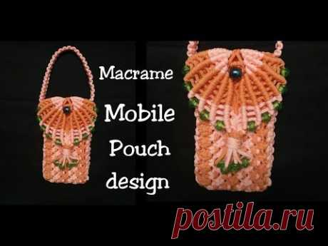 DIY Macrame Mobile Pouch Bag Making step by step - YouTube