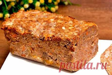 Мясной хлеб из фарша - Кулинарная страница  Таким блюдом можно смело заменить колбасу, или подавать его к гарниру, вместо котлет.