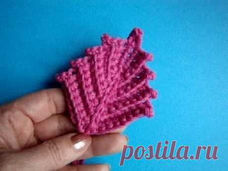 Irish leaf Knitting by a hook Lesson 292 Crochet Irish leaf