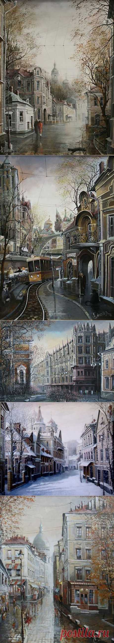 (+1) - Старая Москва в картинах Александра Стародубова | Искусство