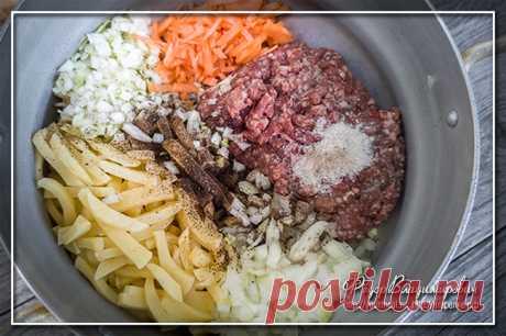 Харя — картофельная запеканка с мясным фаршем