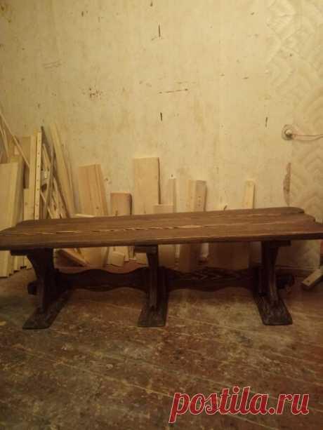 Стол со скамейкой. | flqu.ru - квартирный вопрос. Блог о дизайне, ремонте