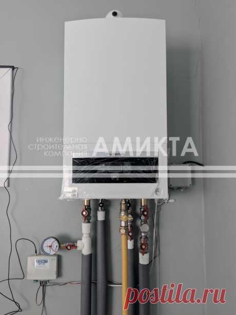 Монтаж системы радиаторного отопления для гаражного помещения. Цена отопления под ключ тут - https://amikta.ru/otoplenie/