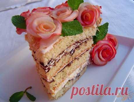 «Букет для женщин» - торт с яблочными розами