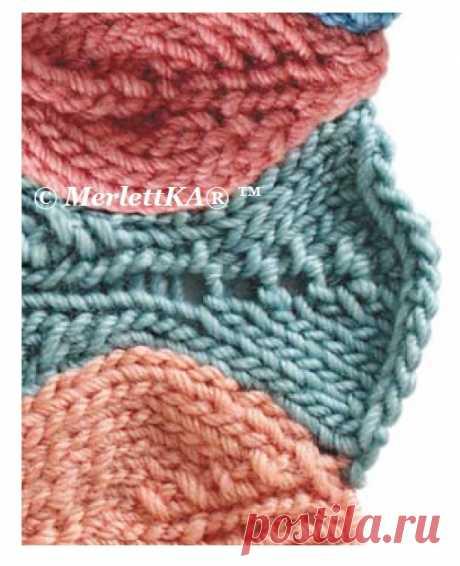 Основы вязания спицами - Увеличение вязанного полотна - Прибавки