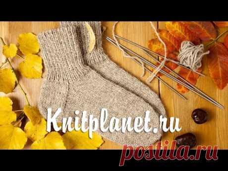 Планета Вязания | Вязание носков спицами. Пособие для начинающих. Видео по вязанию носков.
