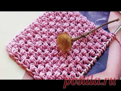 Вяжем буклированный узор спицами 🍒 knitting pattern.