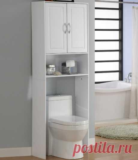Шкаф в туалет: 70 фото вариантов компактной и стильной туалетной мебели