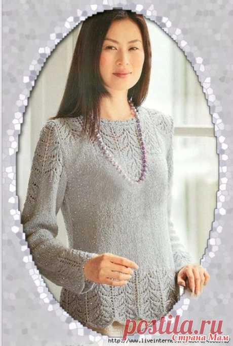 Pullover spokes. - KNITTED FASHION + FOR NOT MODEL LADIES - the Country of Mothers