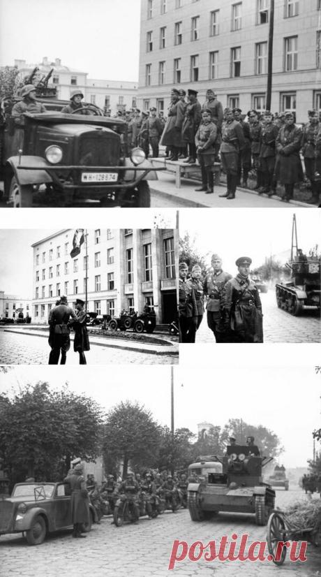 """Парад в Бресте 1939 года. Кинохроника как доказательство. Тема проведения совместного советско-германского парада в Бресте нашла широкий отклик у читателей канала. И если читателю эта тема интересна, то я её немного разовью.  В своей статье """"Парад в Бресте. Ложь, ставшая историей"""" я схематично прошёлся по хронологии событий. Не буду повторяться, тем кто не читал - рекомендую. Если желания нет, то это не беда - статья будет самодостаточной."""