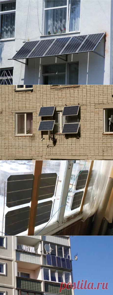 Солнечные панели на балконе и лоджии